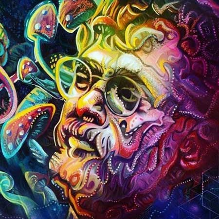 psychedelic-trance-festival-fashion-clothing-Terence-Mckenna-Psychedelic-Art-Portrait