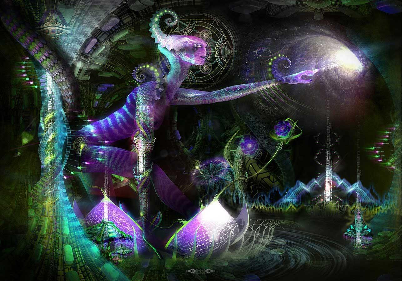 psychedelic visionary art hakan hisim
